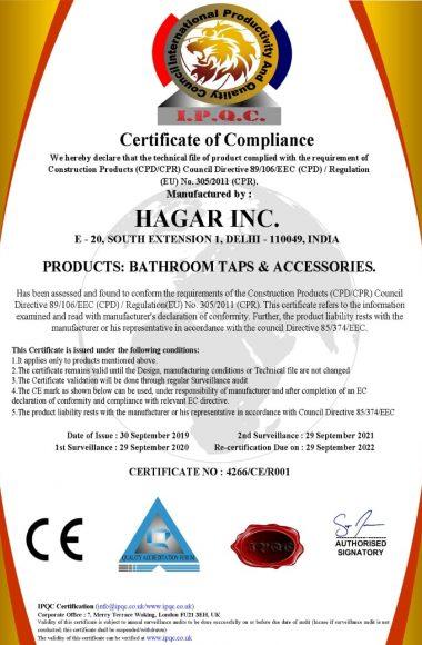 Hagar CE Certification (1)