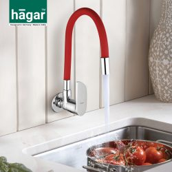 Wall Mounted Sink Cock with flexible Coloured Spout FA0222