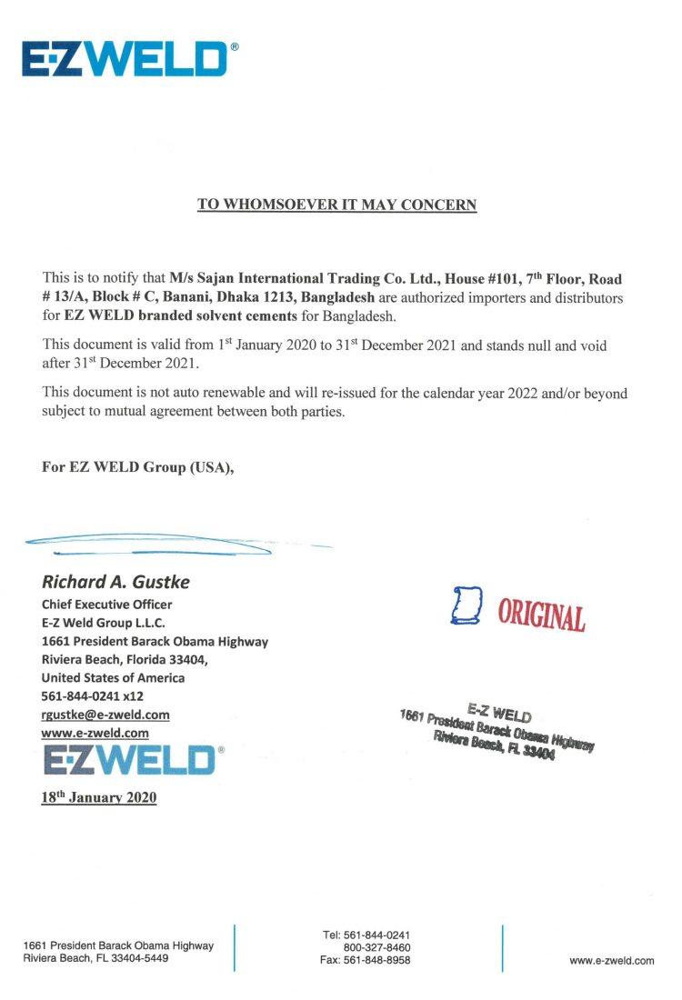 Sajan letter of Distribution 2020
